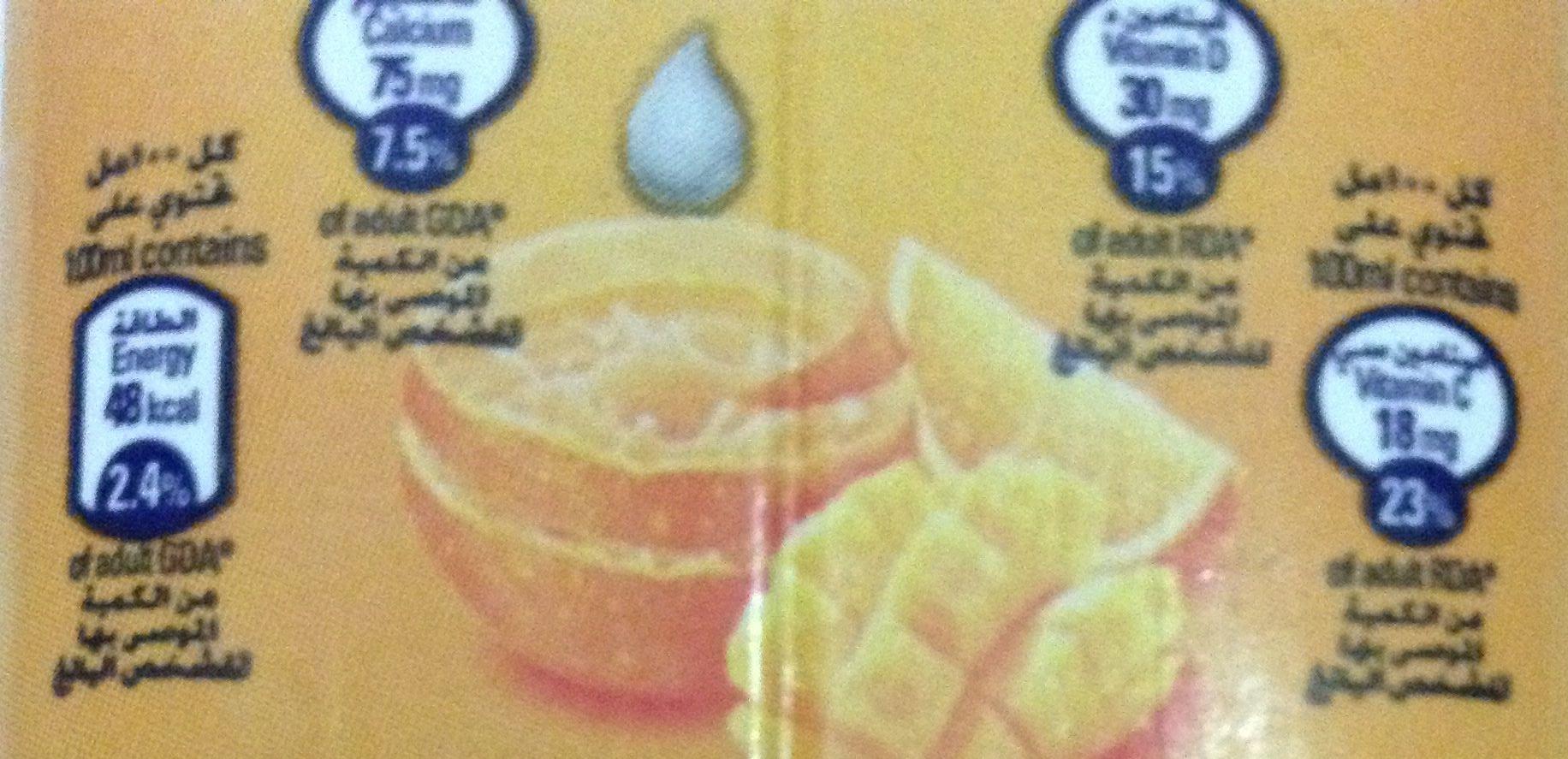 Danao - juice milk - orange mango - Nutrition facts - en