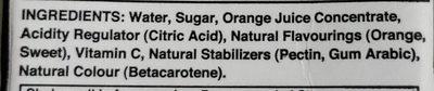 Al Rabie Orange Drink - Ingrediënten
