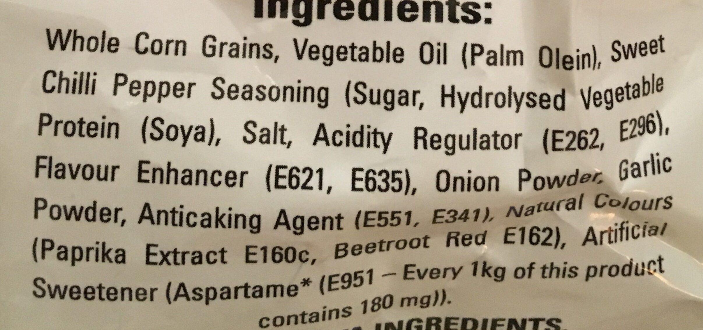 Duritos - Ingrediënten - en