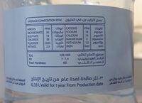 مياه الدرة - Ingredients