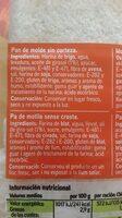 Pan de molde sin corteza - Ingrediënten - es
