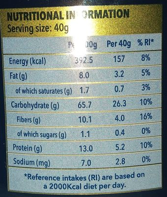 Quaker Whole Oats - Nutrition facts - en