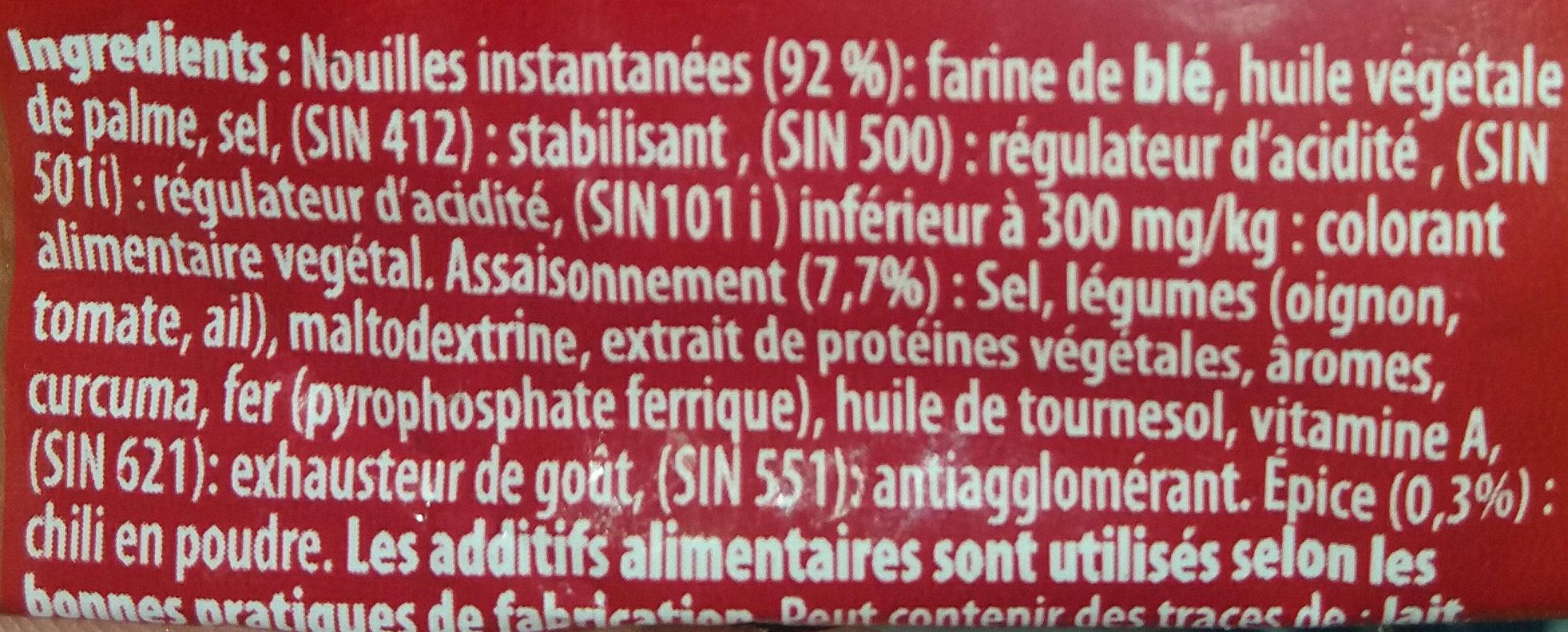 Nouilles benna wa feyda - Ingrediënten - fr