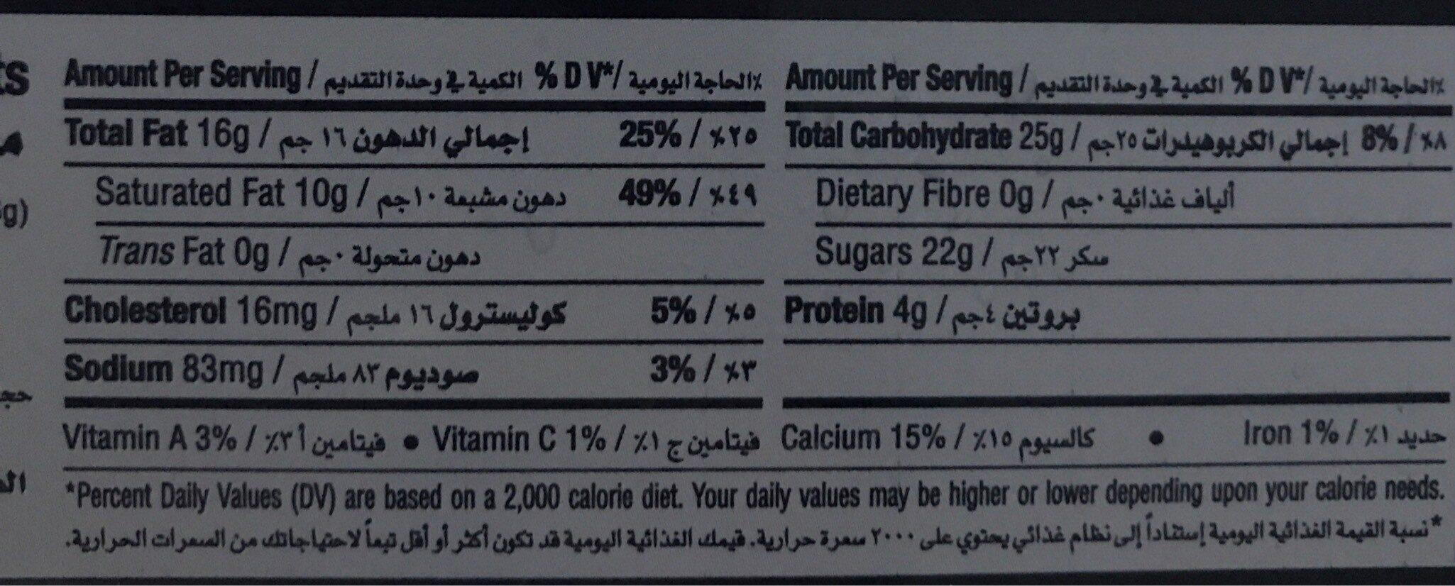 Caramel Biscuit - Informations nutritionnelles - fr