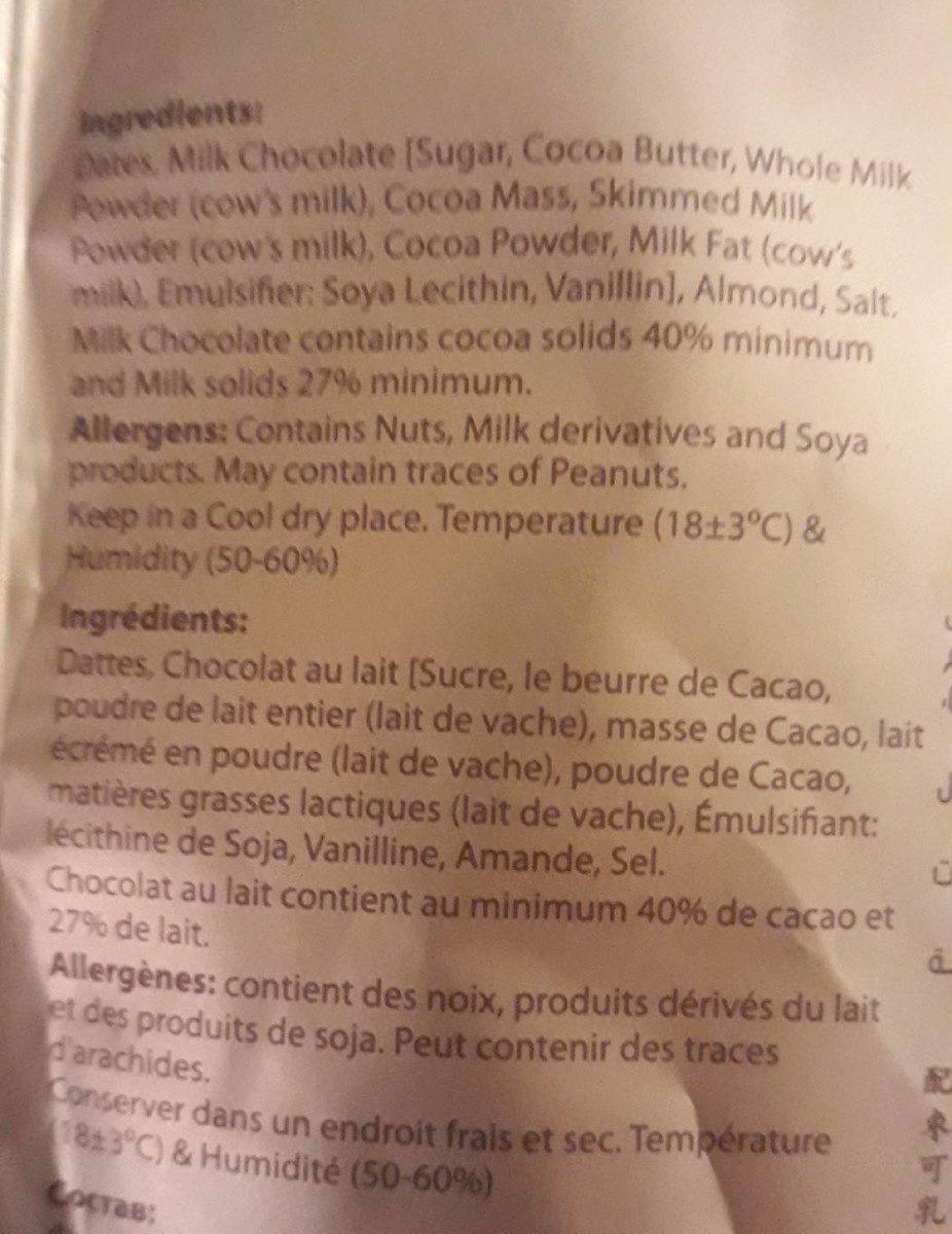 Chocodate - Ingrediënten