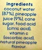 Cocobella Coconut Water Pineapple - Ingredients