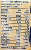 Cocobella Coconut Water Pineapple - Nutrition facts