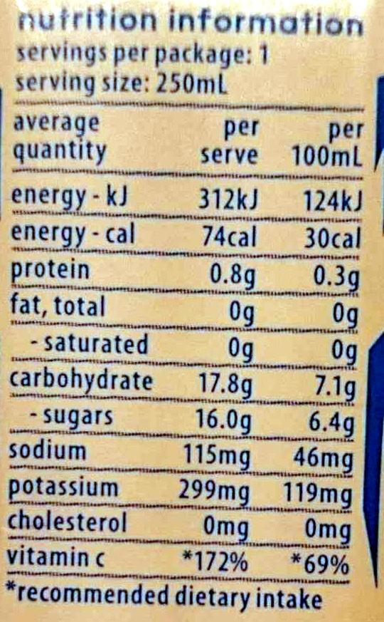 Cocobella Coconut Water Pineapple - Nutrition facts - en