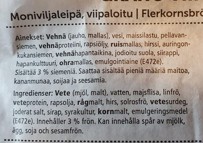 Grano viipaleet - Ingrédients - fi