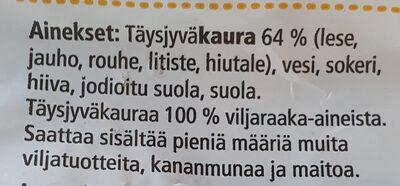 Kaura100 - Ainesosat - fi