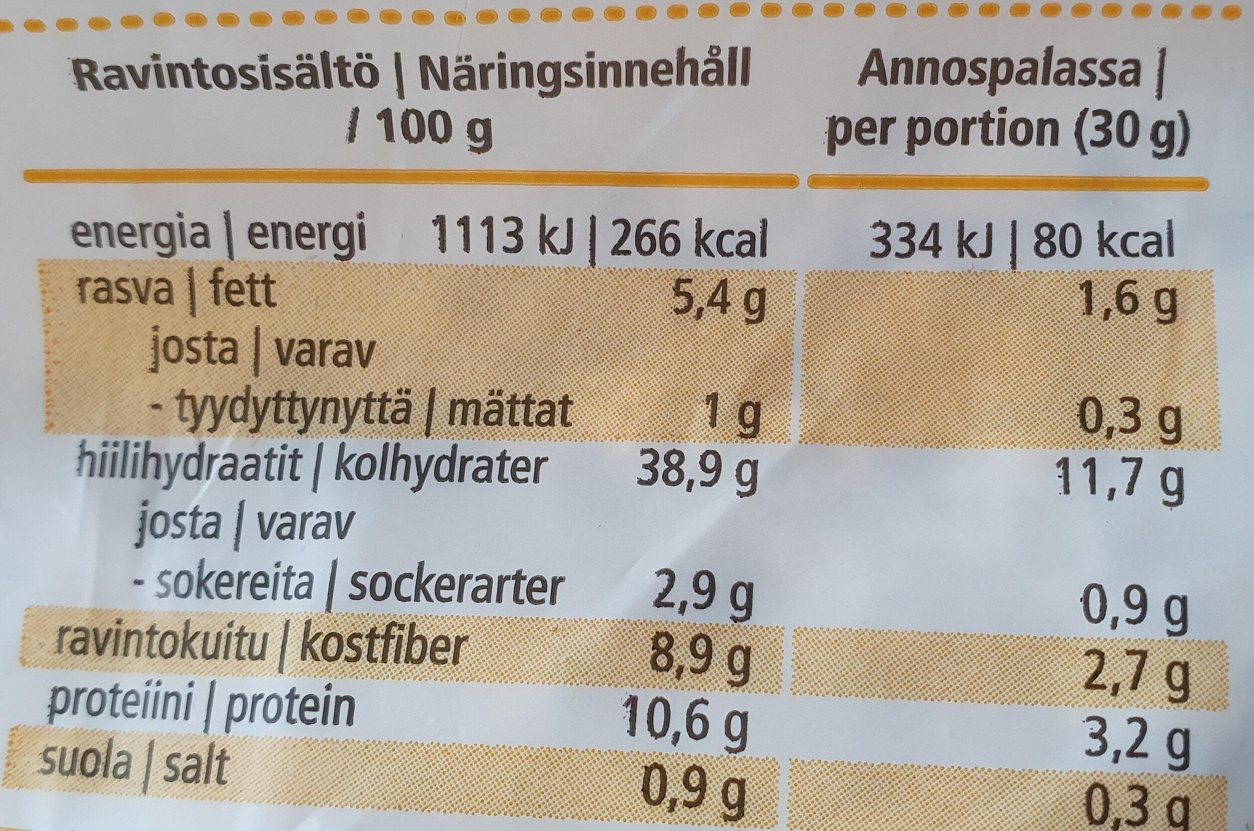 Kaura100 - Ravintosisältö - fi