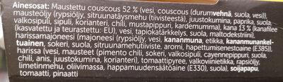 Harissa Kana-Couscoussalaatti - Ingrediënten - fi