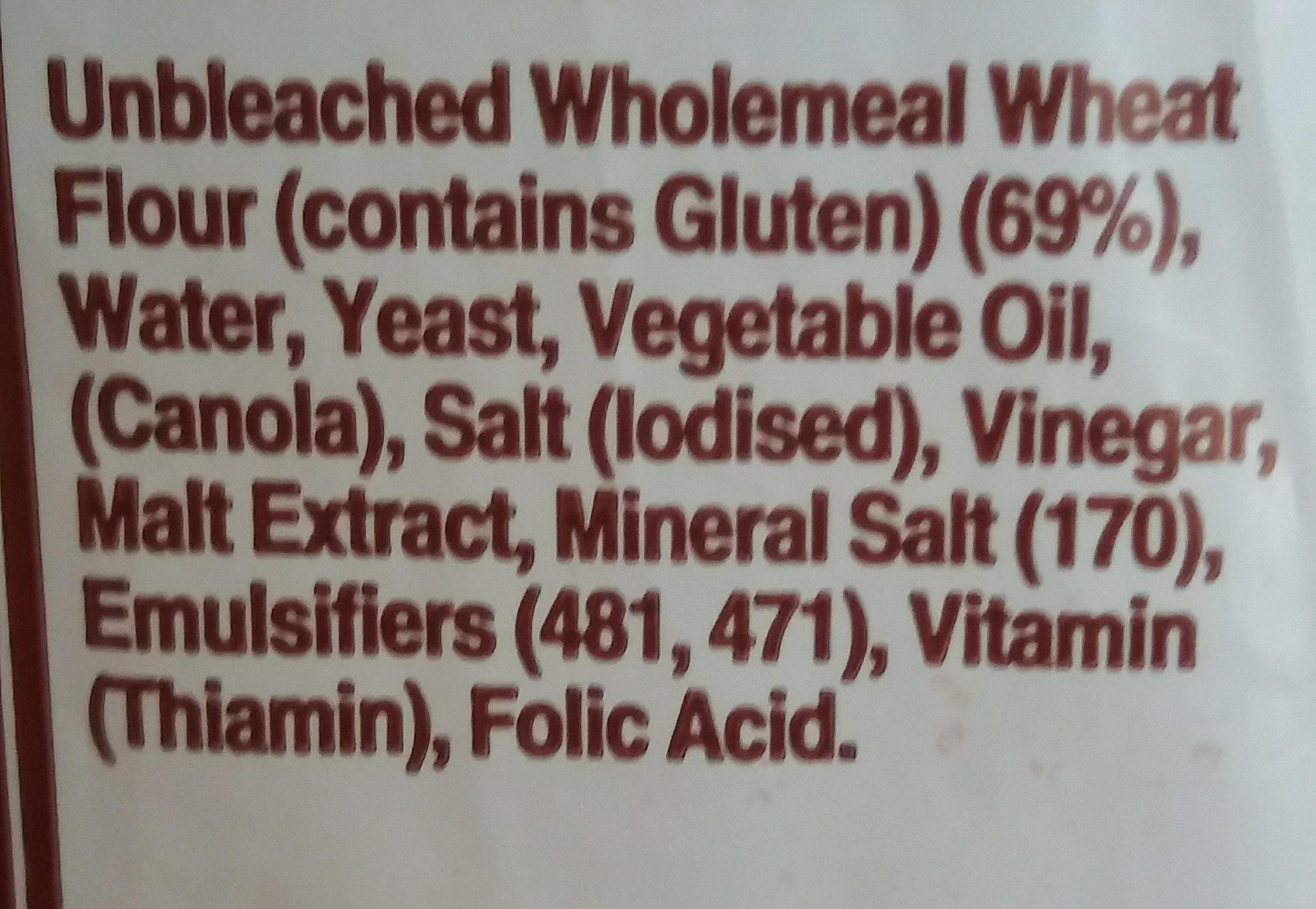 Wholemeal Family Loaf - Ingredients - en