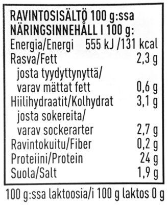 Vuolu Kyckling Fajitas - Ravintosisältö - sv