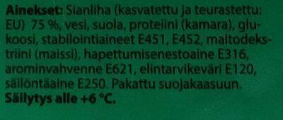 Kevyt kinkkukuutio - Ingrédients - fi
