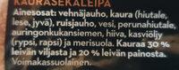 Ohut Kauraherkku - Ingrédients - fi