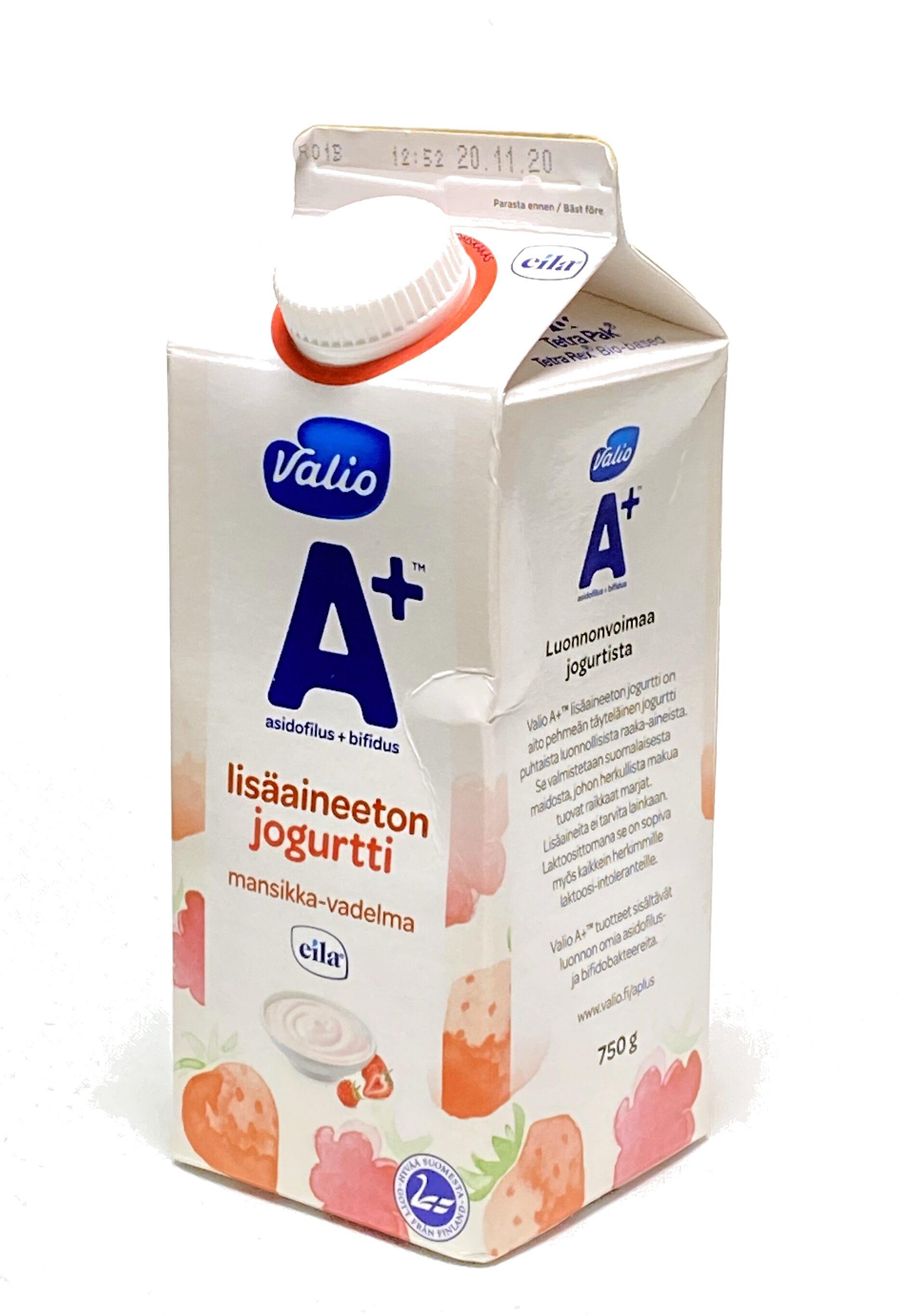 A+ mansikka-vadelma-jogurtti - Produit - fi