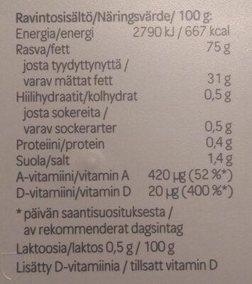 Oivariini Normaalisuolainen - Nutrition facts
