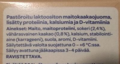 Plus maitokaakaojuoma - Inhaltsstoffe