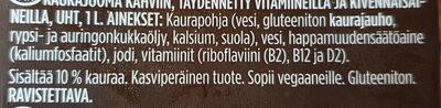 Oddlygood Barista Kaurajuoma - Ainesosat - fi