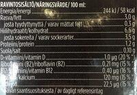 Oddlygood Barista Kaurajuoma - Ravintosisältö - fi