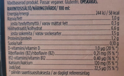 Oddly Good Barista kaurajuoma - Informations nutritionnelles - fi