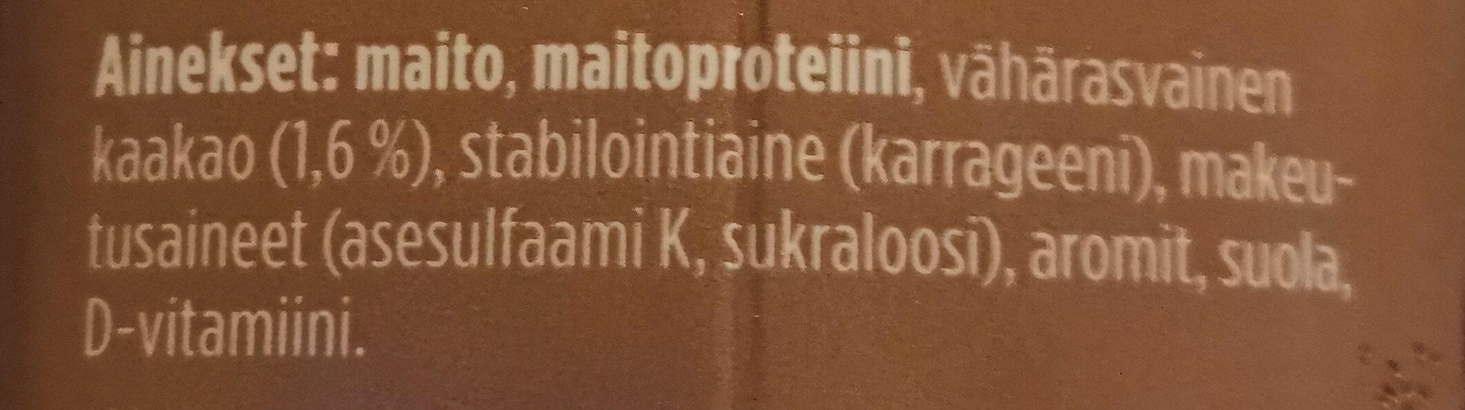 Profeel Proteiinipirtelö - kaakao - Ingredients