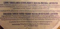 Luomu Valdema-Mustikka - Ingrédients