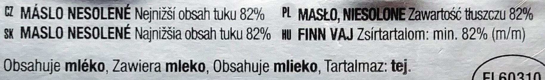 Masło niesolone - Składniki - pl