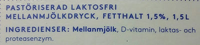 Valio Eila laktosfri mellanmjölkdryck - Ingredients
