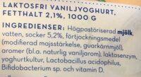 Vanilj yoghurt - Ingredients