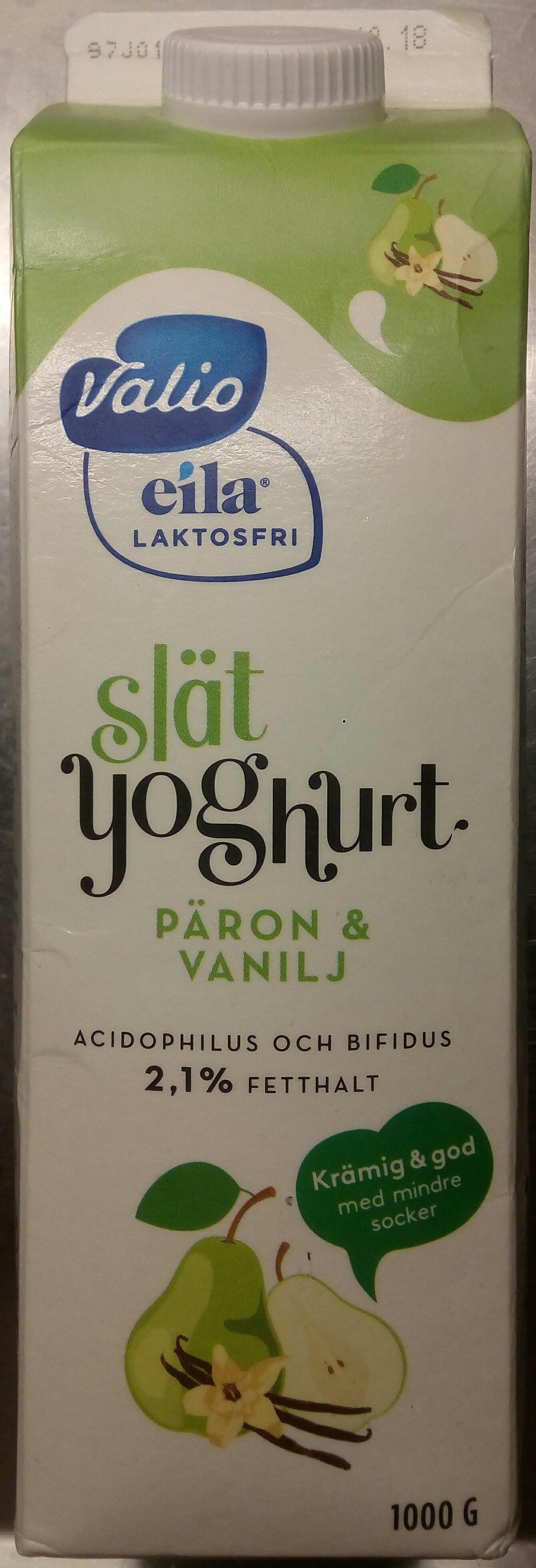 Valio Eila Slät yoghurt Päron & Vanilj - Product