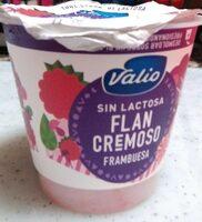 Flan cremoso sin lactosa frambuesa - Product - es