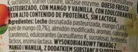 Profeel Mango & Vanilla protein snack - Ingredients - es
