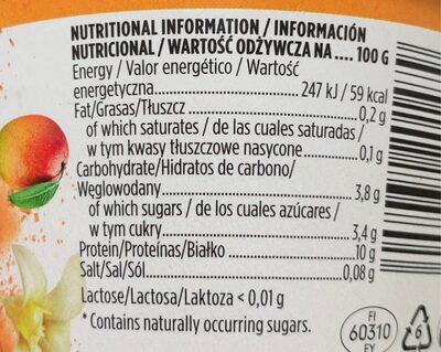 Profeel Mango & Vanilla protein snack - Nutrition facts - es