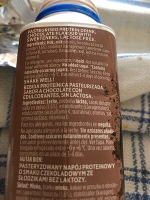 Valio profeel protein chocolate - Ingrediënten