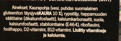 Suomalainen Kaurajuoma Kahviin - Ingrédients - fi