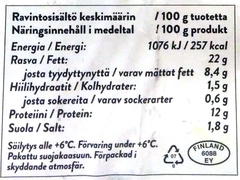 Chilijuusto nakki - Ravintosisältö - fi
