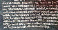 Kauralenkki - Ingrediënten - fi