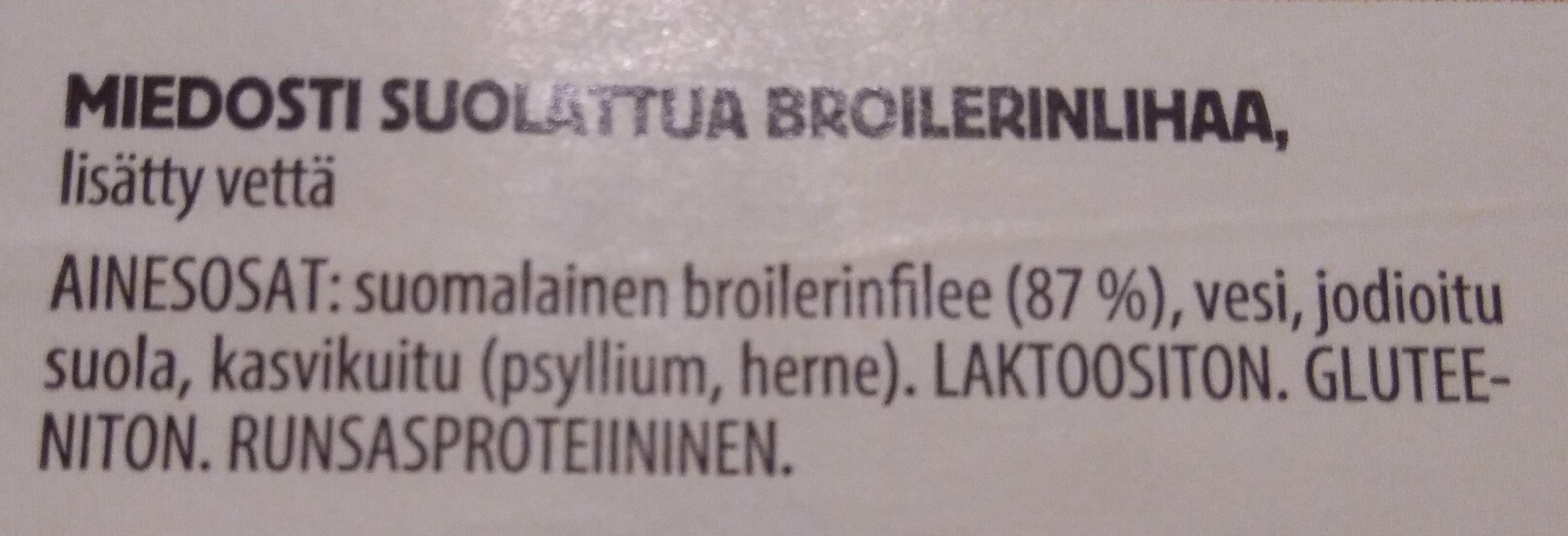 Kananpojan fileepihvi, miedosti suolattu - Ingredients