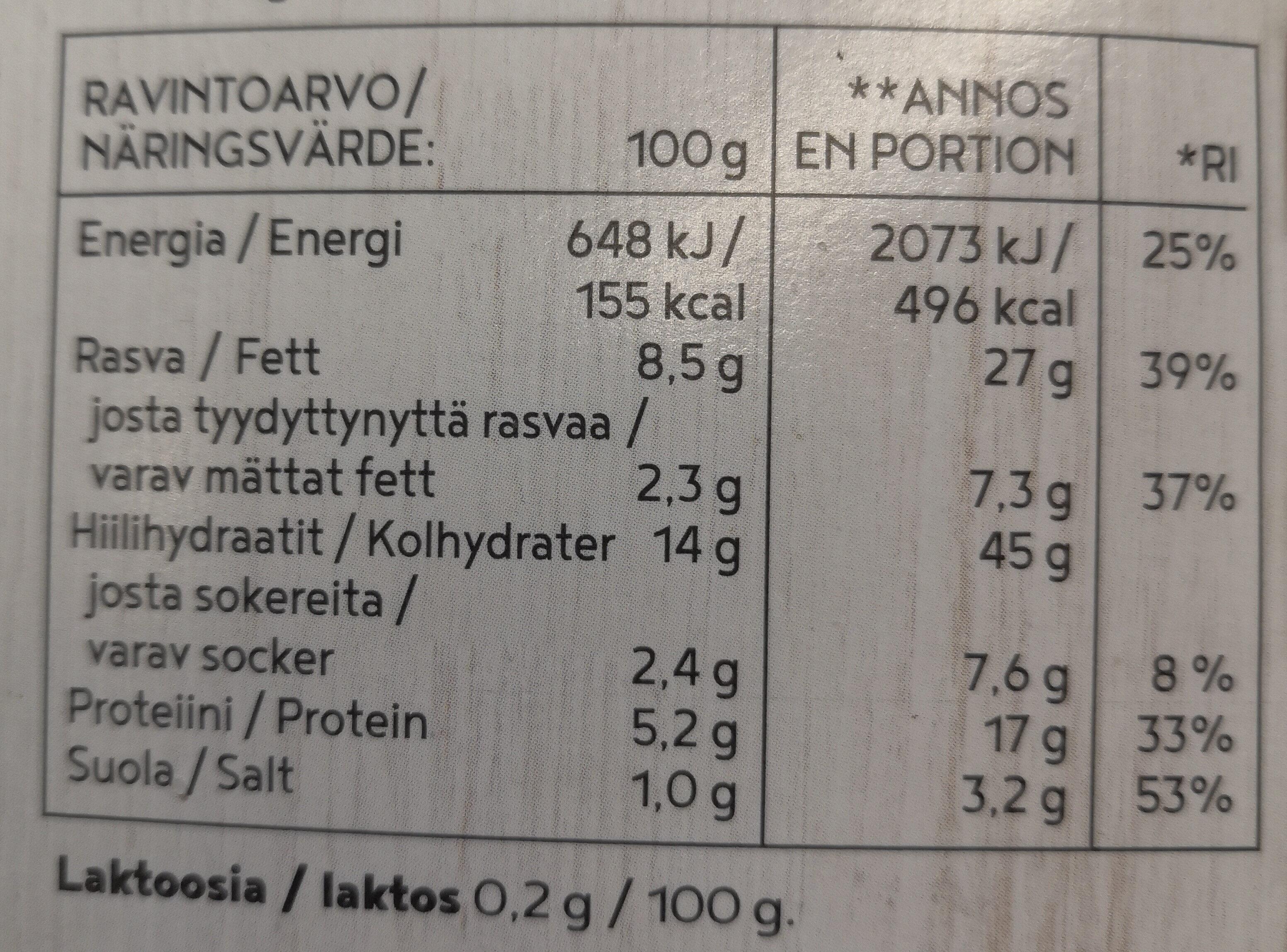 Chicken tikka masala - Voedingswaarden - fi