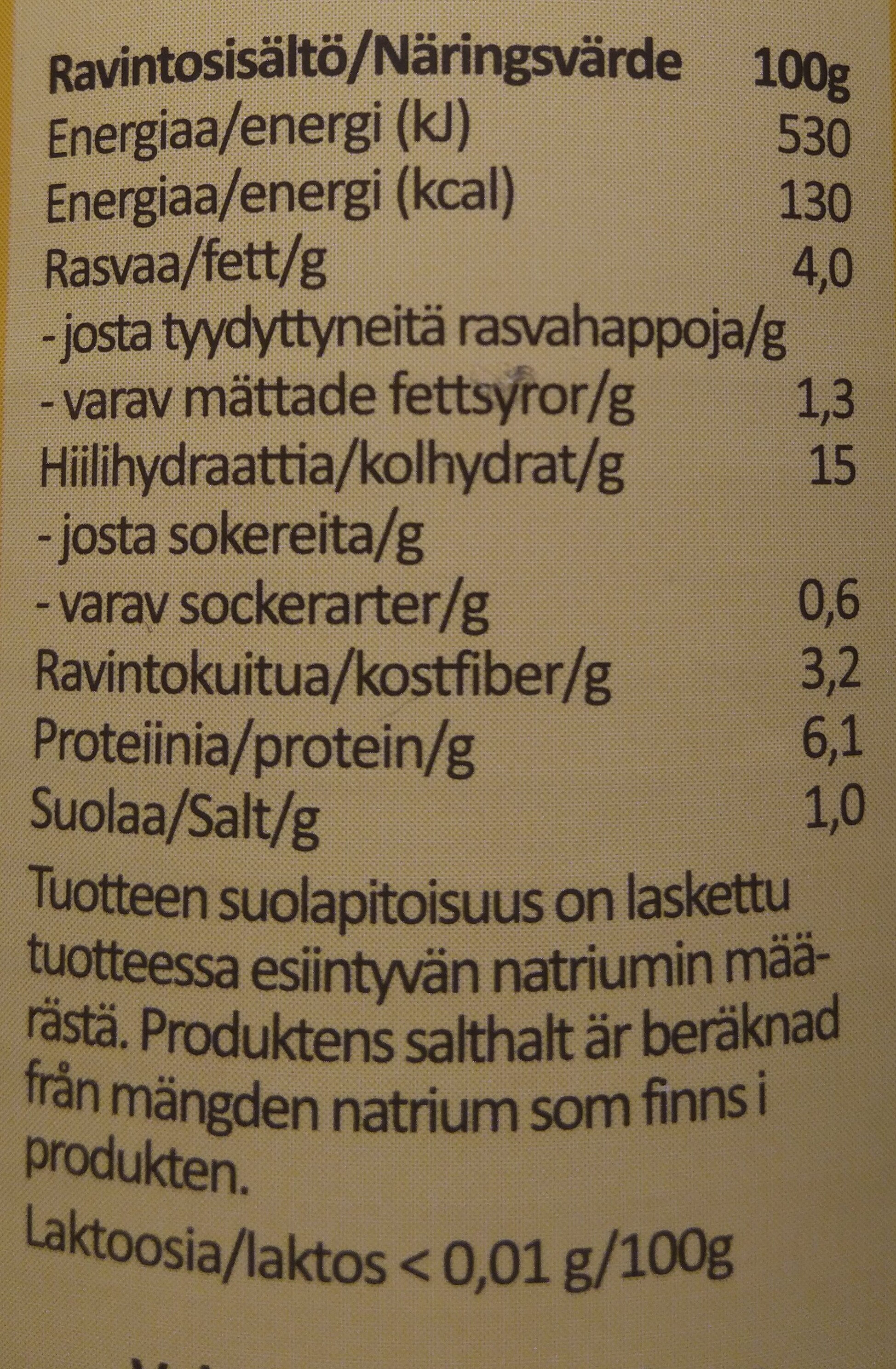 Perinteinen hernekeitto - Nutrition facts