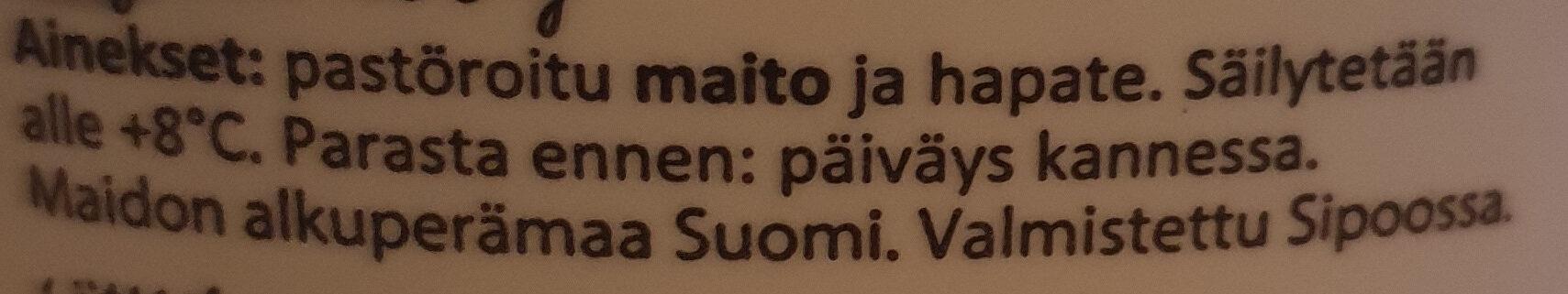 Kevytviiliä Suomesta - Ingredients - fi