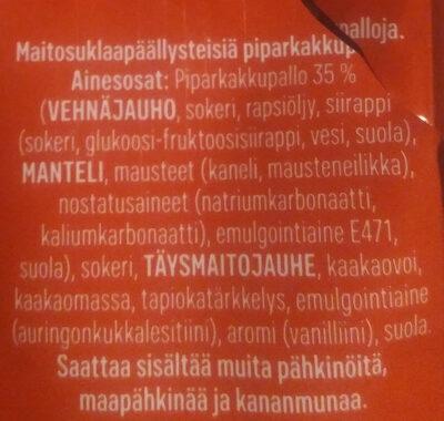 Pallopipari maitosuklaa - Inhaltsstoffe - fi