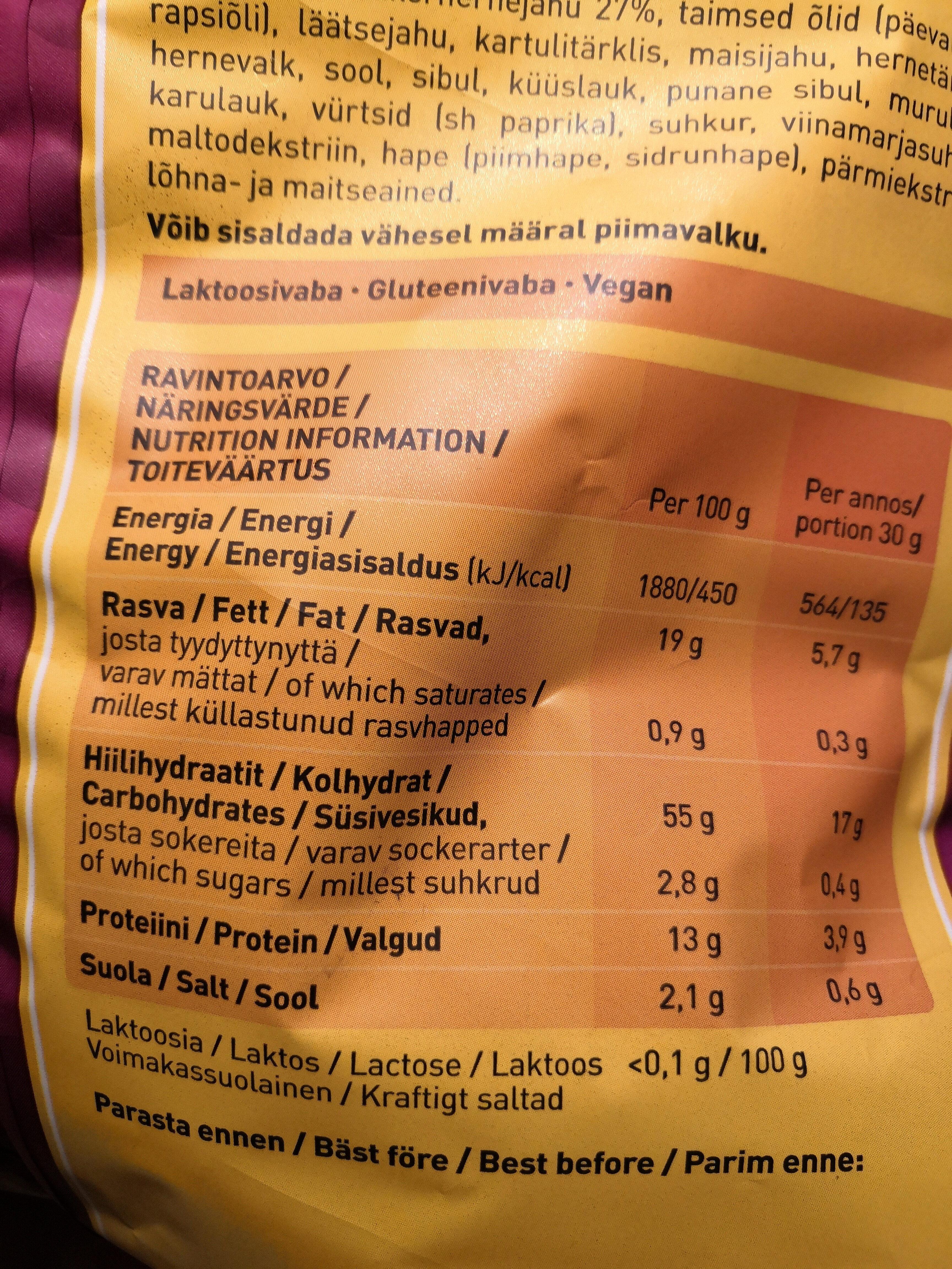 Kikx - Nutrition facts