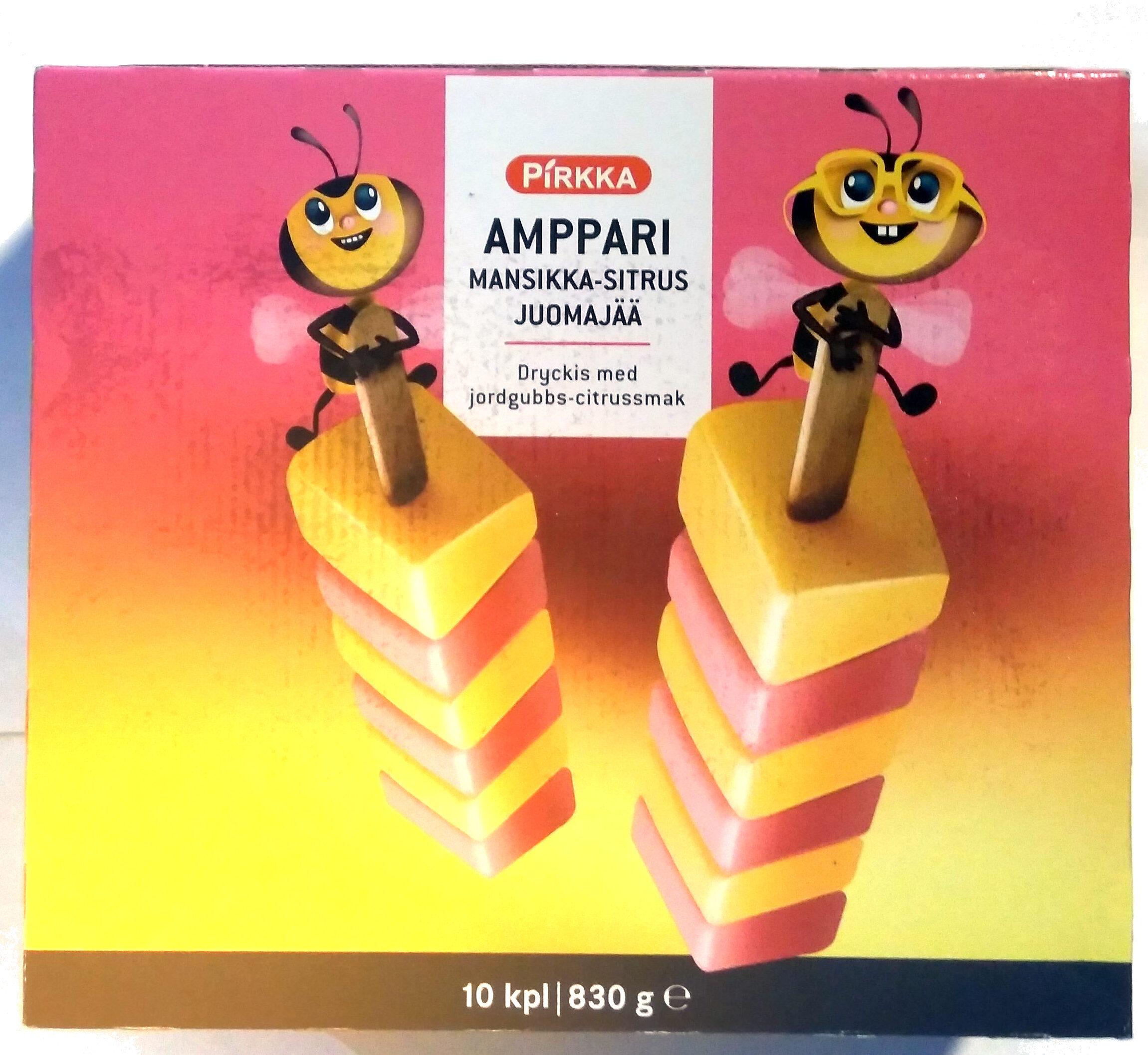 Amppari mansikka-sitrus juomajää - Product - fi
