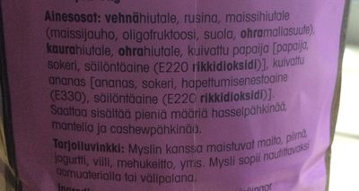 Kilomysli - Ingrédients