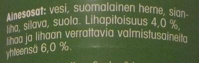 Hernekeitto - Ainesosat - fi