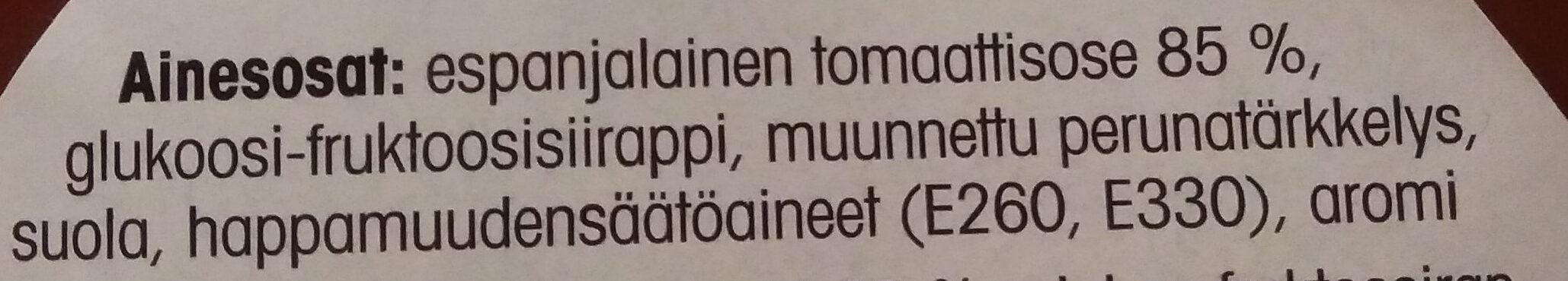 Tomaattiketsuppi - 成分