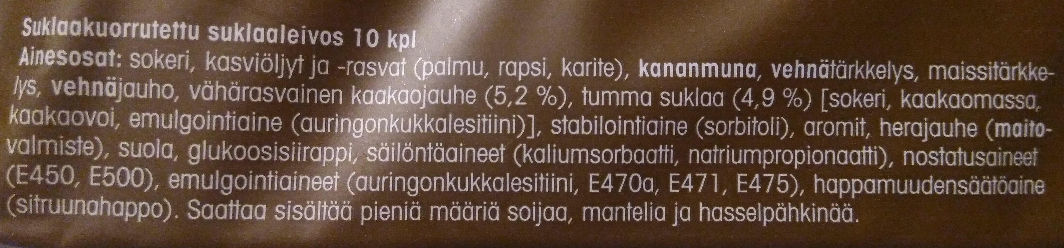 Pieni suklaaleivos - Ingrédients - fi